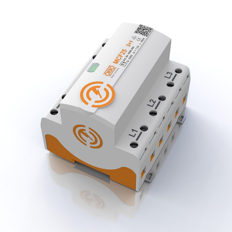 Produktdesign Überspannungsschutz OBO MCF25 compact